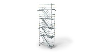 PERI UP Rosett Stair Alu 64: Easy, safe and fast assembly