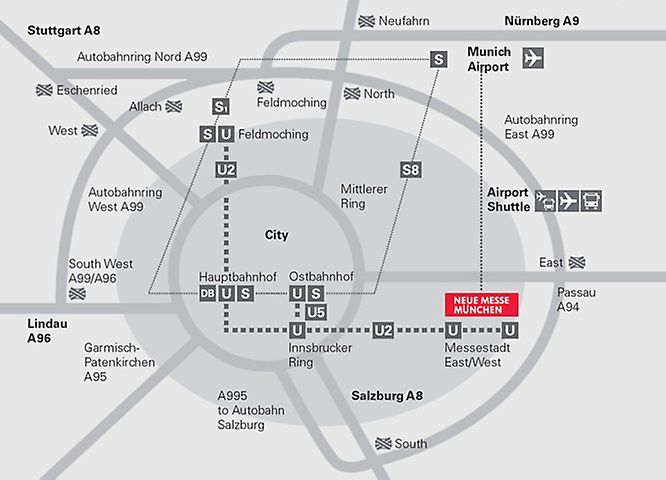 Directions to the bauma fair trade in Munich