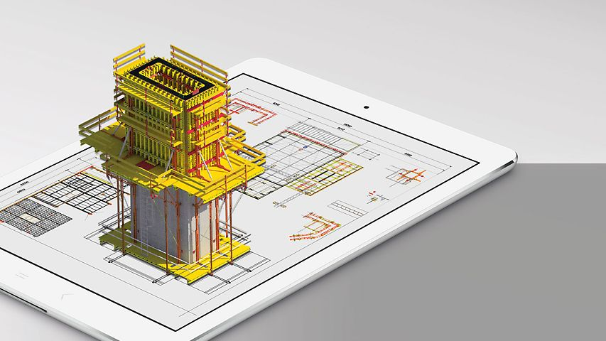 With the PERI Extended Experience App, 3D visualisations of construction projects can also be displayed on mobile devices.