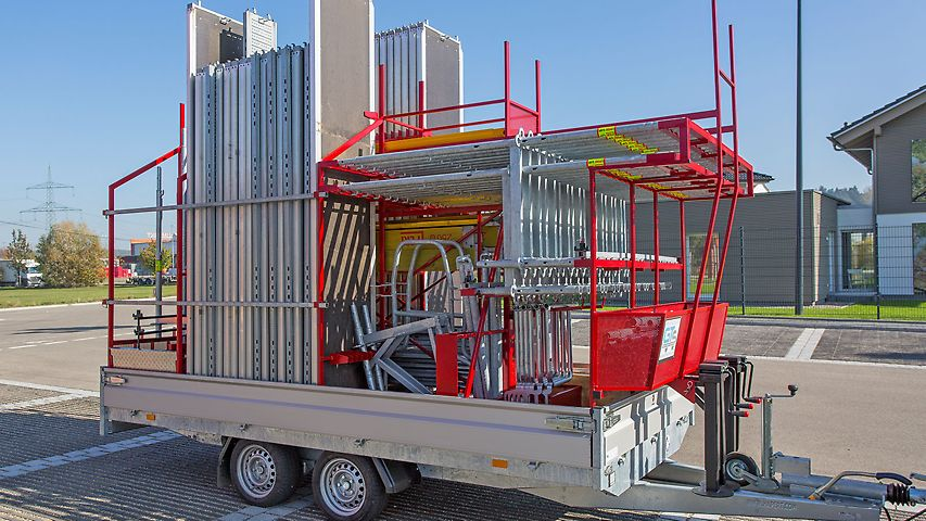 Empty transportation device for the storage of up to 250 m² of PERI UP Easy 67 scaffolding material
