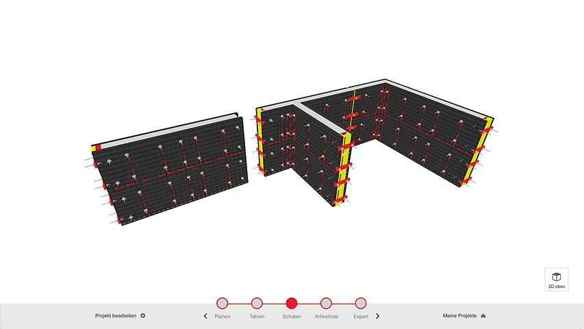 With the DUO Planner, formwork solutions can be quickly planned and without requiring any complex software. All users directly provide PERI with feedback along with their requirements for using the tool. On this basis, the application is being continuously improved.