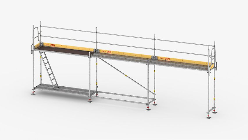 The lightweight and fast frame scaffold for  safe working on facades.