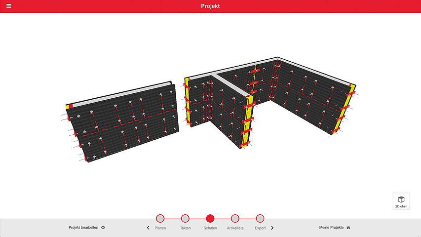 Der webbasierte DUO Planner ermöglicht die Planung einfacher Grundrisse mit dem DUO-Verbundschalungssystem ganz ohne komplexe Software.