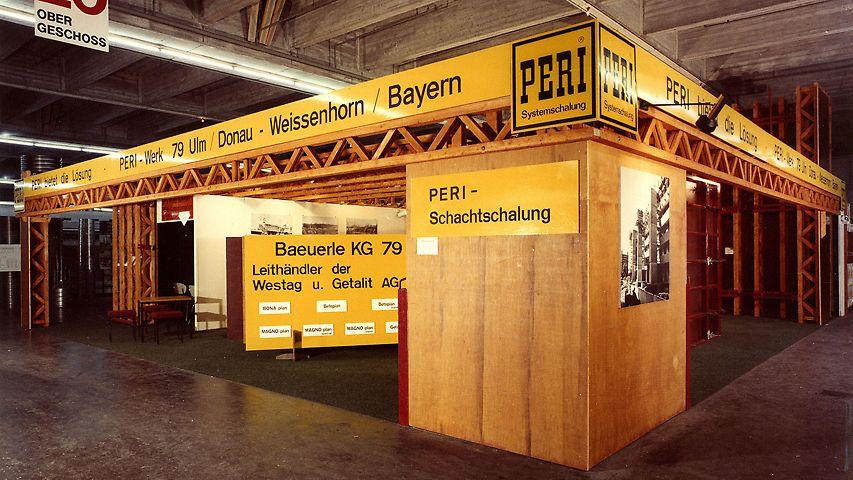PERI bauma Stand 1971 in der Messehalle in München