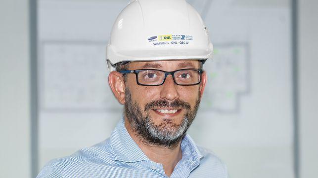 Porträt von Carlos Allepuz, Bauleiter, SOQ Joint Venture; Samsung C&T, OHL, QBC