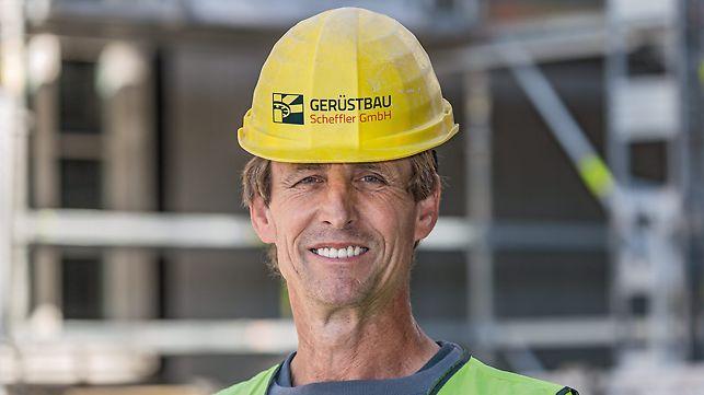 Porträt von Heinz Noack, Baustellenleiter bei Scheffler GmbH, Werder/Havel