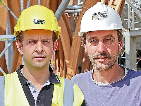Peter Amann, Geschäftsführer und Tobias Doebele, Bauleiter