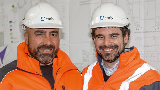 Picture of Alfio Musumeci (Production Manager) and Tommaso Salvo (Site Manager) | C.M.B. Carpi