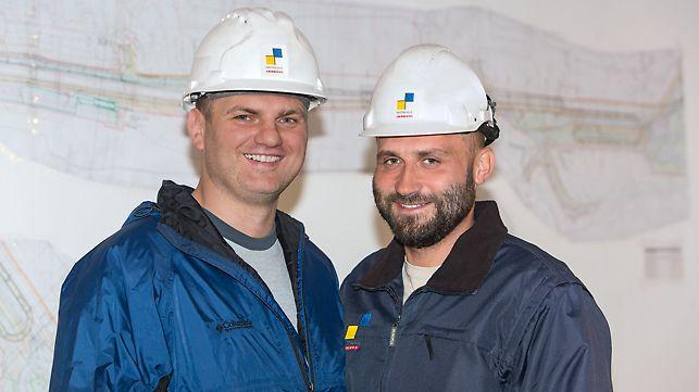 Artur Salachna, palir i Krzysztof Goliński, voditelj gradnje mosta