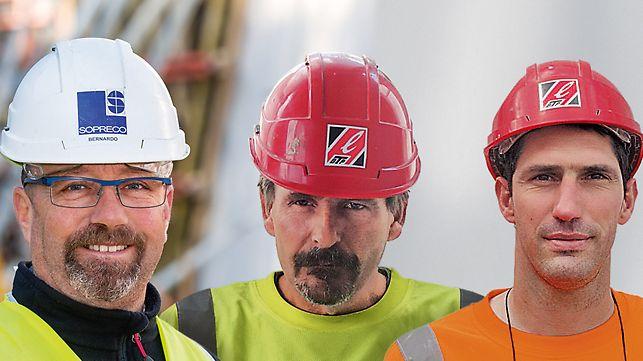 Joseph Bernardo, šef gradilišta; Serge Bertrand, šef gradilišta; Patrice Viguié, šef gradilišta