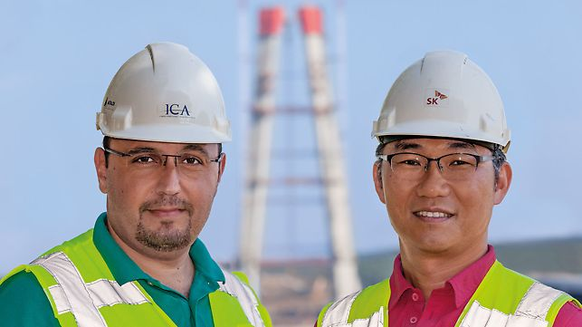 3rd Bosphorus Bridge, Samet Seyhan, Construction Manager (ICA) and Evans Baek, Deputy Project Manager (Hyundai/SK)