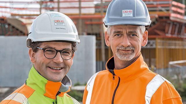 Portrait von Peter Herbers (Geschäftsführer) und Holger Koelmann (Polier), Dipl.-Ing. H. Oehm GmbH & Co. KG, Meppen