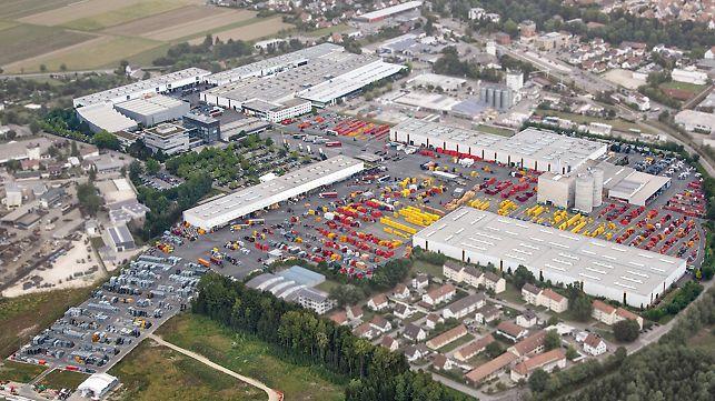 Letecký pohled na společnost PERI ve Weissenhornu