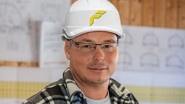 Porträt von Rene Glanzer, Hauptpolier, Felbermayr Bau GmbH & Co. KG, Wels
