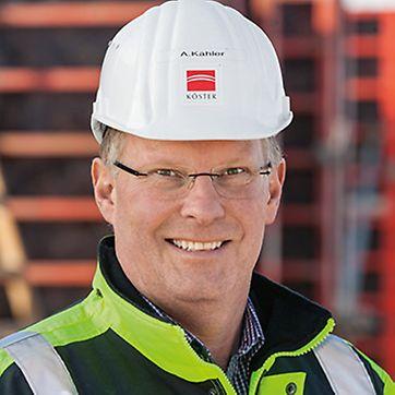 Porträt von Arwed Kähler, Projektleiter bei Köster GmbH, Osnabrück