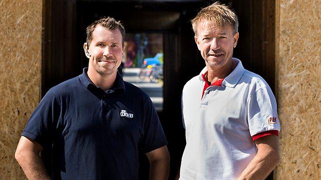 Bjarne Ögärd, Projektledare på Heab Byggnadsställningar Väst och  Christian Rajasalo, Teknisk säljare på PERI
