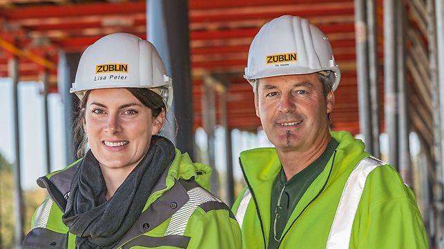 Portät von Lisa Peter, Bauleiterin und Thomas Heide, Polier von Ed. Züblin AG, Stuttgart