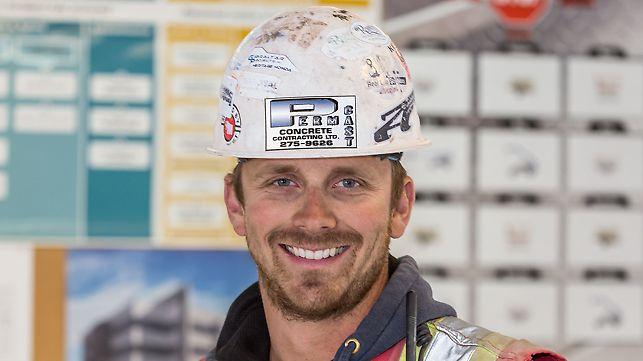Porträt von Jamie Wood, Bauleiter bei Perma-Cast Concrete Contracting Ltd., Calgary, AB, Kanada