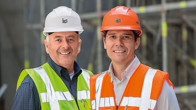 Portrait of Gianni Scenna, Site Manager and Stefano Riccò, Senior Site Engineer, Italiana Costruzioni S.p.A.