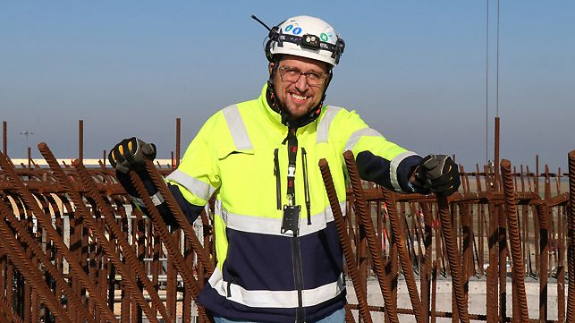 Johan Berglund, Supervisor for Concrete Works, Skanska