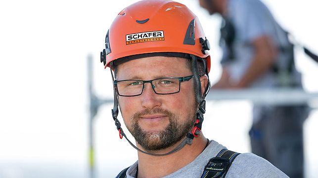Portrait of René Schierstedt, junior site manager at Schäfer Gerüstbau GmbH, Memmenhausen