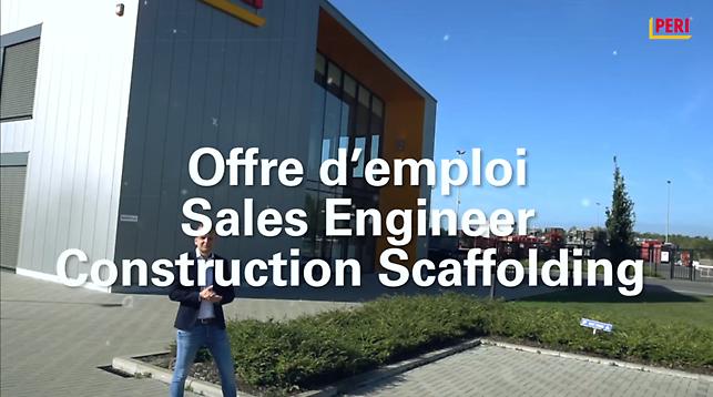 Sales Engineer Construction Scaffolding : Regardéz la vidéo et postulez maintenant.