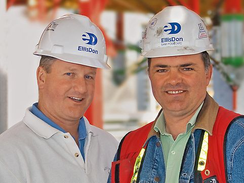 Scott Thompson, Project leader and Sam Poskovic, Foreman