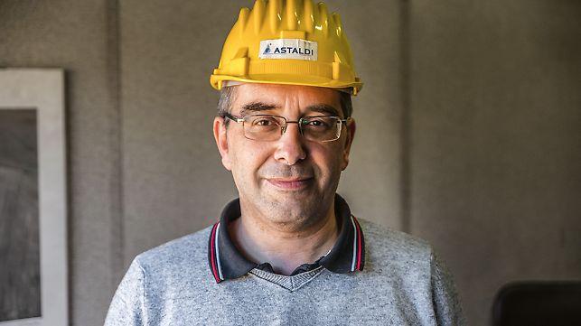 Porträt von ng. Roberto Giovannini, Bauleiter bei Astaldi S.p.a.