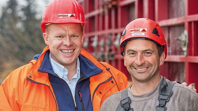 Porträts von Felix Pelzer, Bauleiter, und Albert Asemann, Polier von Pelzer Baugeschäft GmbH, Dirlewang