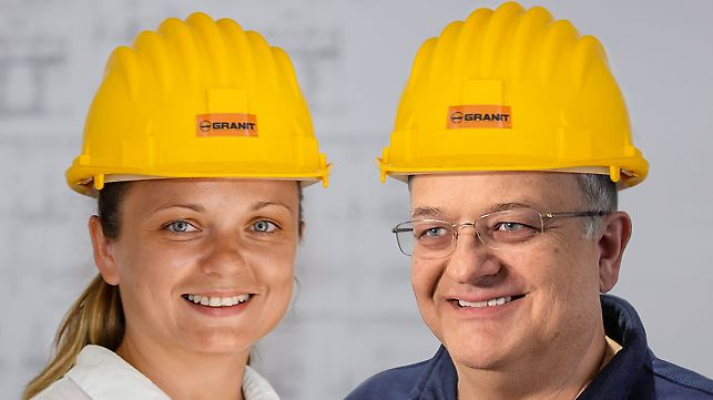 Portrait of Goran Milanovic, Project Manager and Ivana Dimitrova, Site Manager at GD Granit