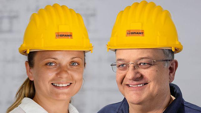 Porträt von Goran Milanovic, Projektleiter und Ivana Dimitrova, Bauleiterin bei GD Granit