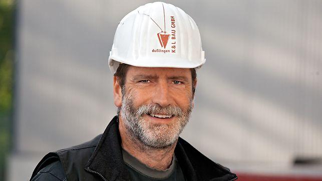 Portrait von Thomas Knupfer, Geschäftsführer und Bauleiter von K & L Bau GmbH in Dußlingen