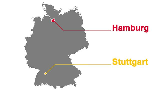 Die ersten PERI Niederlassungen in Hamburg und Stuttgart wurden 1972 gegründet