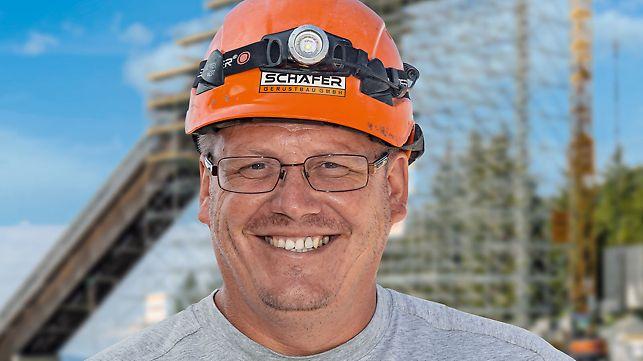 Portrait von Steve Göllner, Vorarbeiter bei Schäfer Gerüstbau GmbH, Memmenhausen