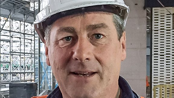 A portrait of Alan Watt, Site Supervisor, Nomad Scaffold, Melbourne, Australia