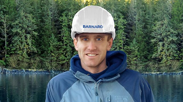 Portrait of Shawn Perrin, Site Manager,  Barnard Construction, Bozeman