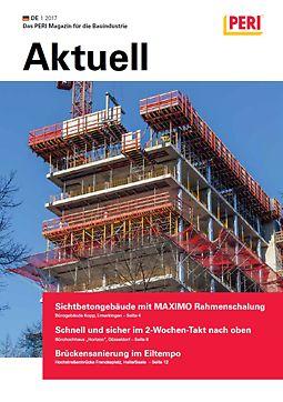 Cover der 1. Ausgabe des Kundenmagazins PERI aktuell Deutschland für das Jahr 2017