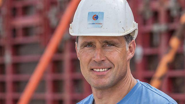 Portrait von Thomas Hanselmann, Polier bei F. Kirchhoff Systembau GmbH, Münsingen