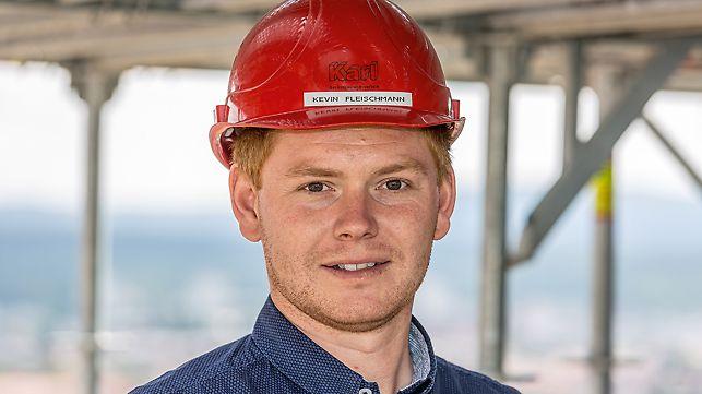 Kevin Fleischmann, Bauleiter bei Karl GmbH, Viereth-Trunstadt