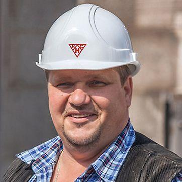 Porträt von Andreas Brey, Polier von HC Hagemann GmbH Co. KG, Hamburg