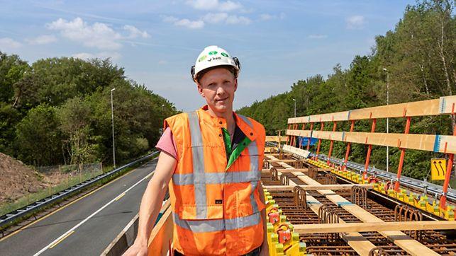 Niels Akse, Uitvoerder project IGOO – 2 ecoducten, BAM Infra Nederland, Verantwoordelijke voor planning, kwaliteit en uitvoering