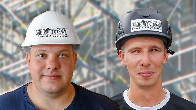 Poträt von Martin Döhne, Betriebsleiter/Bauleiter und Christian Herrmann, Projektleiter