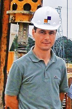 Ponte sobre o Rio Catumbela, Angola - Engº Alberto Pereira, Director de Obra