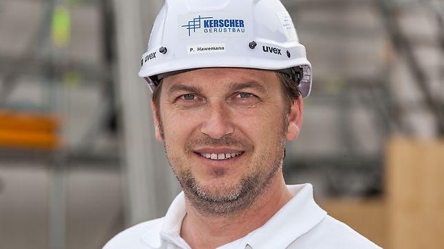 Portrait von Paul Hawemann, Betriebsleiter bei Kerscher Gerüstbau GmbH, Atting-Rinkam