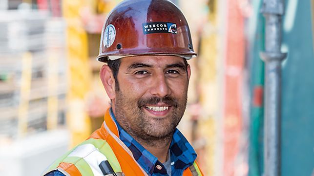 Portrait of Ivan Ramos, Superintendent at Webcor Concrete San Francisco, CA