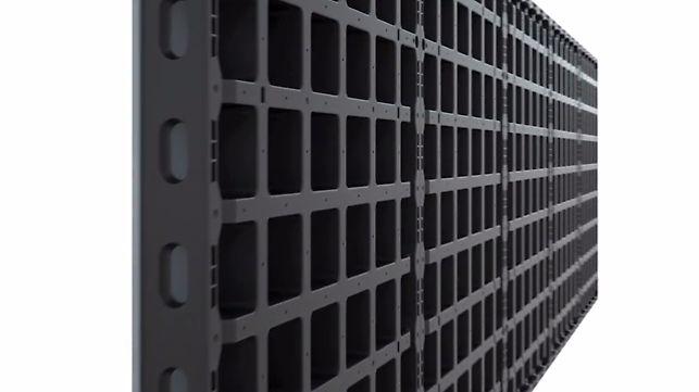 DUO é o novo sistema de formas, que se distingue pelo peso reduzido e o manuseio particularmente simples. A montagem é executada de forma eficiente em muros, pilares e lajes com uma quantidade mínima de diferentes componentes do sistema.