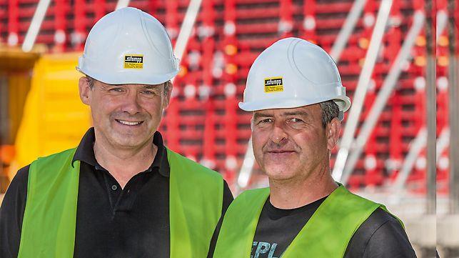 Porträt von Andreas Oehler, Oberbauleiter und Ralf Weber, Oberpolier bei Gebr. Stumpp GmbH & Co. KG, Rottweil