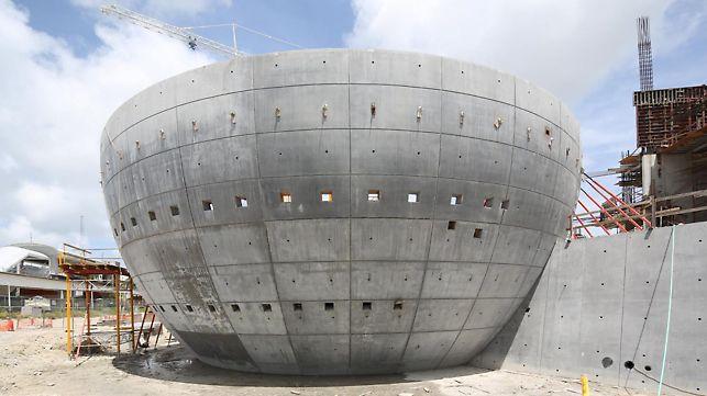 PERI wurde als Zulieferer für den Bau der Wände des Planetariums beauftragt.