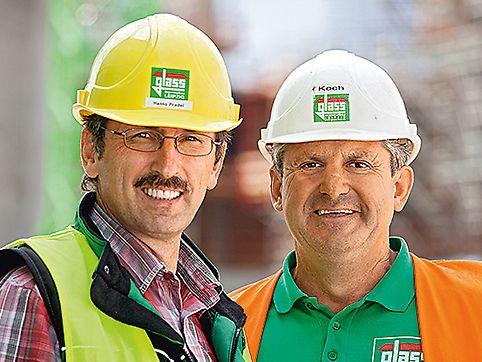 Heizkraftwerk Spremberg Statement, Hanno Pradel, Site Manager and Klaus-Dietrich Koch, Site Foreman
