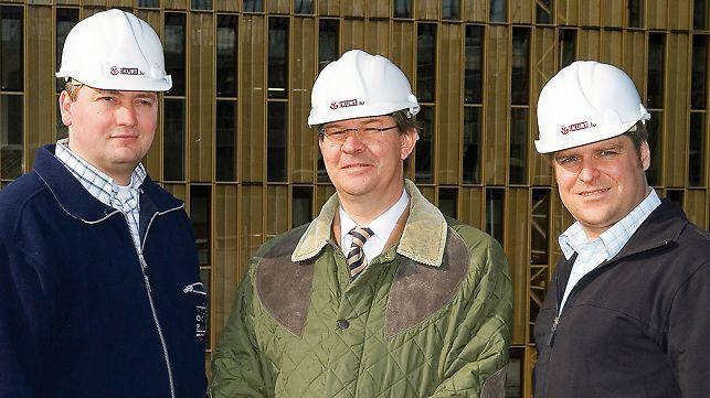 Patrick Federmeyer, hlavní stavbyvedoucí - Claude Johann, technický ředitel - Florian Krämer, vedoucí projektu